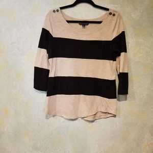 Banana Republic Cotton Boat Neck Top in EUC